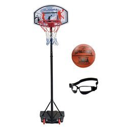 Basketball set Hudora All Stars + Spalding Control + Dribble Specs