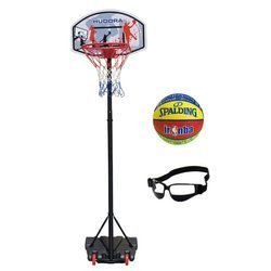 Basketball set Hudora All Stars + Spalding NBA Junior + Dribble Specs