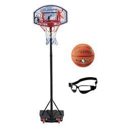 Basketball set Hudora All Stars + Spalding NBA Silver + Dribble Specs