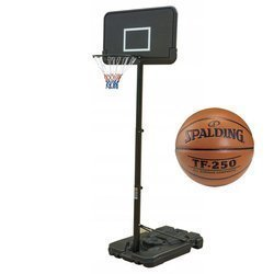 Basketbalová sada Black 305 cm + Spalding Basketball TF-250