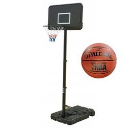 Basketbalová sada Black 305 cm + Spalding NBA Grip Control
