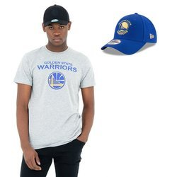 New Era NBA Golden State Warriors T-shirt + Strapback