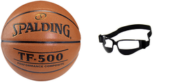Spalding Basketball NBA TF-500 míč - 3001503010 + Dribble Specs No Look Basketball Eye Glass Goggles