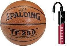 Spalding Košíková TF-250 Indoor/Outdoor + Air Jordan Essential Ball Pump