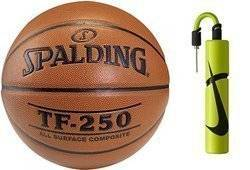Spalding Košíková TF-250 Indoor/Outdoor + Nike Essential Dual Action Ball Pump