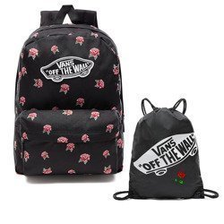 VANS Realm Black & Rose Batoh  - BLACK  VN0A3UI6RDU + Bag