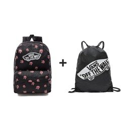 VANS Realm Black & Rose Batoh + VANS Benched Bag black