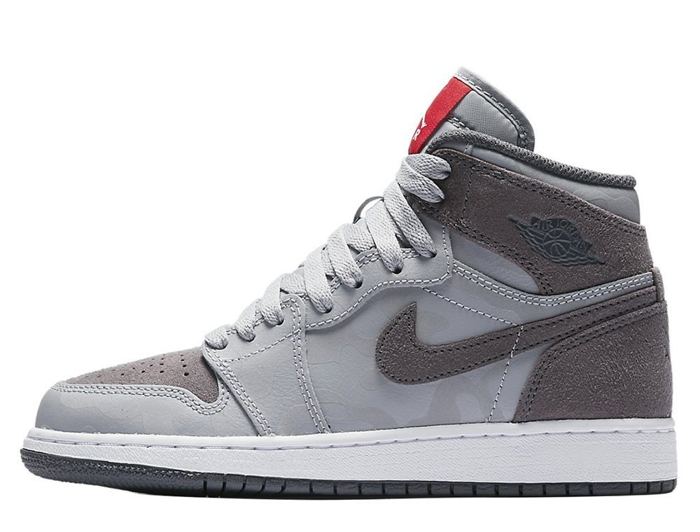 Air Jordan 1 Retro High Premium Wolf Grey BG Boty - 822858-027 Wolf ... 67403363b3