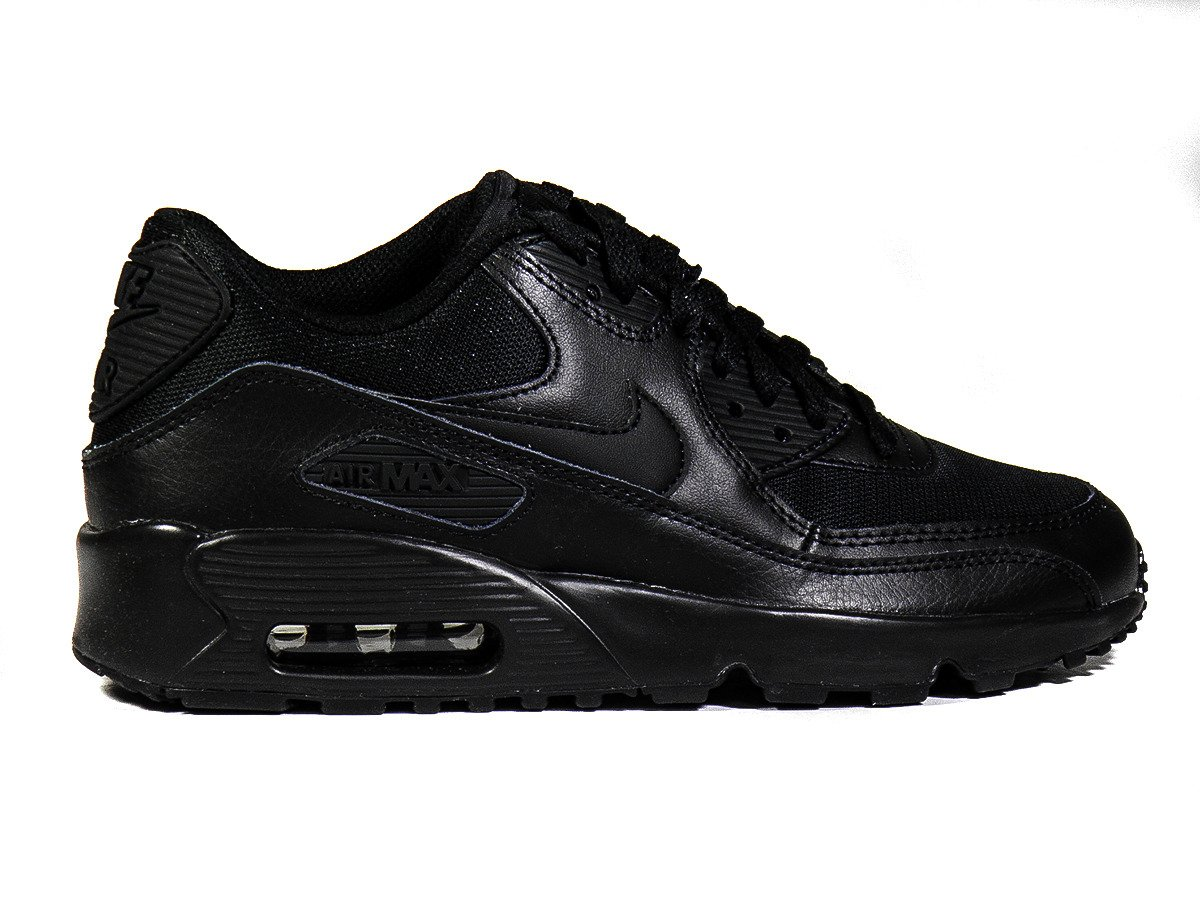 ... Nike Air Max 90 Mesh GS Black Boty - 833418-001 ... 00214a77960