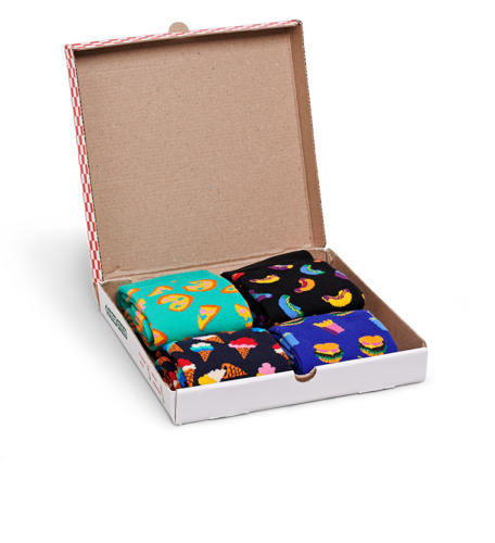 Giftbox 4-pak Happy Socks Junk Food - XFOD09-0100