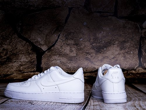 Nike Wmns Air Force 1 Low All White Boty - 315115-112
