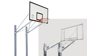 Sure Shot 667 Double Pole Basketball System